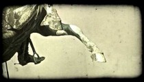 Vienna Statue 3. Vintage stylized video clip.