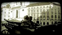 Vienna Building 7. Vintage stylized video clip.