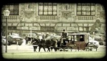 Vienna Carriage 1. Vintage stylized video clip.