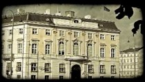 Vienna Building 6. Vintage stylized video clip.