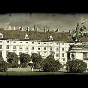 Vienna Building 3. Vintage stylized video clip.