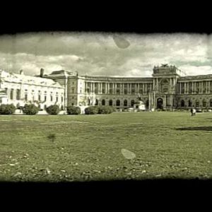 Vienna Building 2. Vintage stylized video clip.