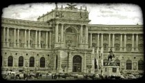 Vienna Building 1. Vintage stylized video clip.