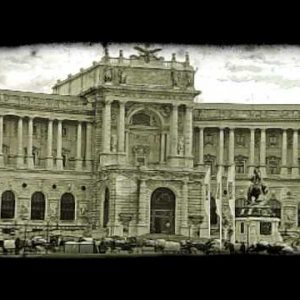 Vienna Building 1. Vintage stylized video clip.