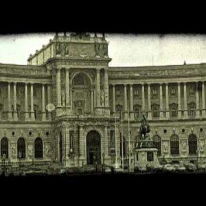 Hofburg Palace in Vienna, Austria. Vintage stylized video clip.