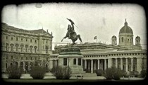 Hofburg Palace in Vienna, Austria. Vintage stylized video clip.