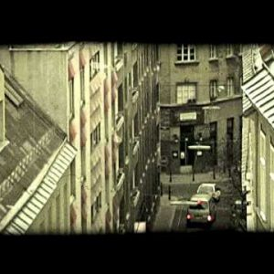 Vienna buildings and street. Vintage stylized video clip.