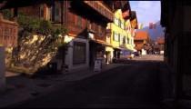 Dolly shot of a street in Switzerland