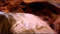 Pan of canyon wall of Zion Narrows