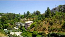 Footage of Beverly Hills houses