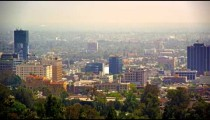 Static shot of Los Angeles from Mulholland Drive
