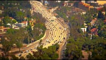 A view of the freeway from Mulholland Drive
