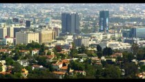 Mulholland Drive panoramic view of Los Angeles