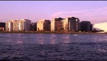 Sunset along the Amsterdam coastline