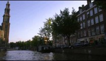 Shot of Westerkerk and nearby streets in Amsterdam