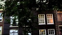 Shot of old building facades in Amsterdam