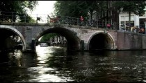 Passing a bridge in Amsterdam
