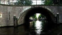 Shot of a bridge on the Amsterdam waterway