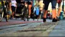 Close-up shot of sidewalk on Amsterdam