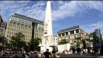 Shot of the National Monument at Dam Square, Amsterdam