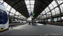 Timelapse shot of train station in Amsterdam