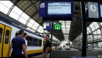 Shot of a train station in Amsterdam