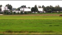 Shot of the Amsterdam countryside from a train