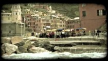 People in Italy 2. Vintage stylized video clip.