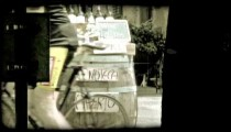 Barrel and Wine. Vintage stylized video clip.