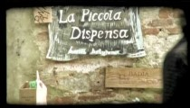 Italian sign. Vintage stylized video clip.
