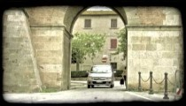 Italian tunnel. Vintage stylized video clip.
