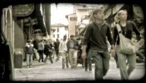 Italian street 2. Vintage stylized video clip.