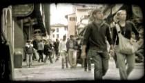 Italian street 2. Vintage stylized video clip.