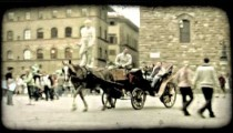 Italian Carriage 2. Vintage stylized video clip.