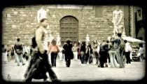 Italian Plaza 11. Vintage stylized video clip.