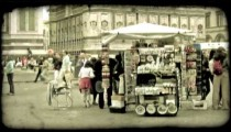 Italian Plaza 10. Vintage stylized video clip.