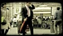 Italian Plaza 9. Vintage stylized video clip.