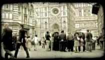 Italian Plaza 8. Vintage stylized video clip.