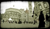 Italian Plaza 6. Vintage stylized video clip.