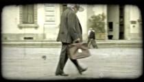 Man walking 3. Vintage stylized video clip.