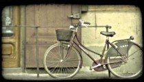 Italian Bicycle. Vintage stylized video clip.