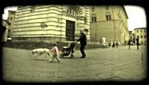 Italian Plaza 5. Vintage stylized video clip.