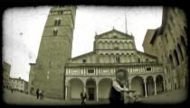Italian Plaza 4. Vintage stylized video clip.