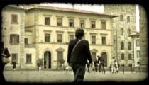 Italian Plaza 2. Vintage stylized video clip.
