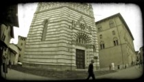 Italian Plaza 1. Vintage stylized video clip.