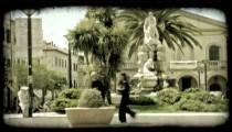 People walking 1. Vintage stylized video clip.