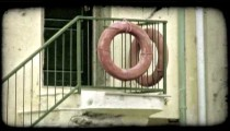 Lifesaver Rings. Vintage stylized video clip.