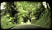 Covered Roadway. Vintage stylized video clip.