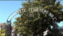 Lafayette Cemetery Gate zooms