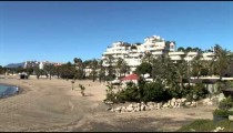 Puerto Banus Beach pans zoom